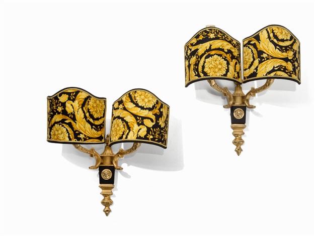 gianni versace a pair of gilt medusa wall sconces 1990s by gianni versace  sc 1 st  Artnet & Gianni Versace A Pair of Gilt Medusa Wall Sconces 1990s by Gianni ...