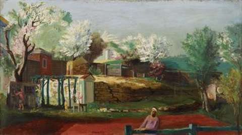scene in collegeville pennsylvania by walter stuempfig