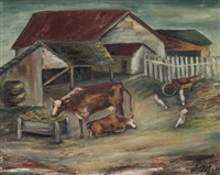 farm yard by josephine mahaffey