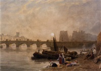 the pont neuf, paris - sunrise by frederick nash