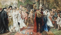 the marriage of katherine and petruchio: the taming of the shrew by sir john gilbert