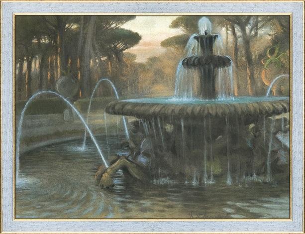 rome. fontana dei cavalli marini by casimir stabrovsky