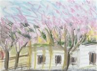 cherry blossom, caravan park by regine bartsch