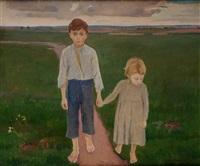 dzieci na łące by jerzy karszniewicz