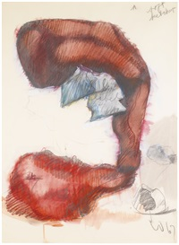 study for a soft sculpture in the form of a giant ketchup bottle by claes oldenburg
