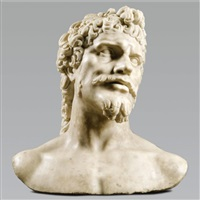 colossal bust of an ancient hero by baccio bandinelli