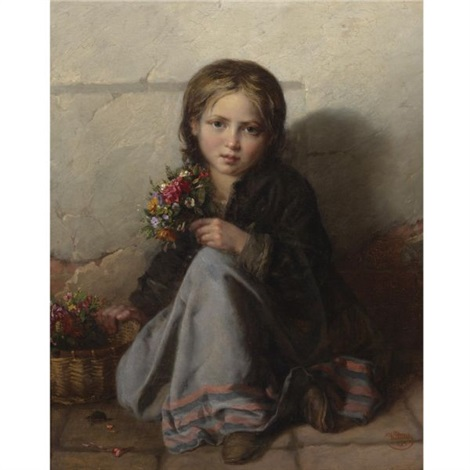portrait of a girl by nikolai y. rachkov