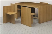 b-locked 6, dining table and six chairs by anita nevens
