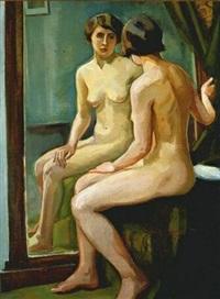 akt w lustrze by jozefa widymska-kratochwila