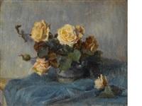 bouquet de roses by paul gauguin