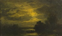 fisherman at dusk by albert pinkham ryder