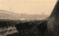 vue des jardins du palais royal by lieutenant colonel robert batty