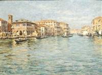 venezia, il canal grande verso vendramin by zaccaria dal bo