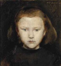 portrait of a young girl by william turner dannat