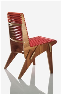 bolivian plywood chair in red by abbott miller
