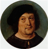 portrait of a gentleman wearing a beret by master of frankfurt