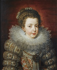 portrait en buste d'elisabeth de france by frans pourbus the younger