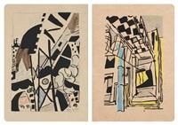 l'atelier (set of 9) by jean pougny