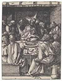 das letzte abendmahl (from die kleine holzschnitt-passion) by albrecht dürer