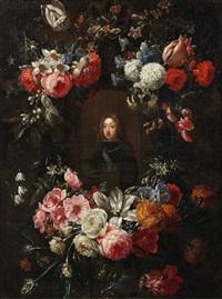 jeune prince à la toison dor dans un entourage de fleurs by gaspar pieter verbruggen the younger