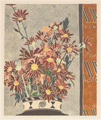 chrysanthemums by cressida campbell