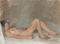 italian girl by euan uglow