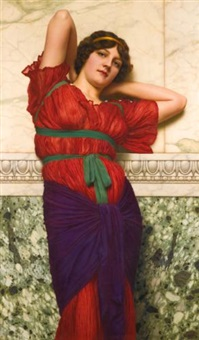contemplation by john william godward