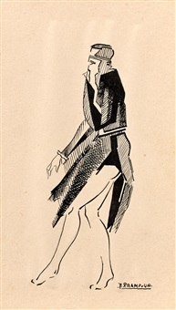 donna seduta 1917