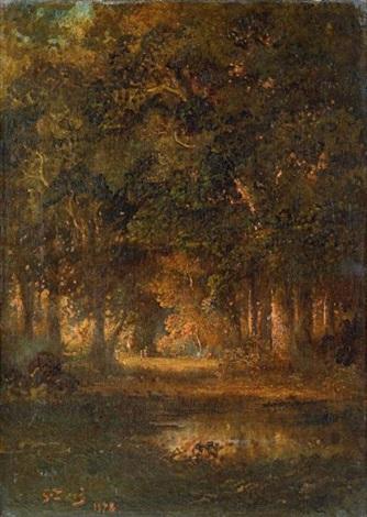 paysage de sous bois by gustave doré