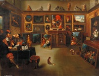 a royal picture gallery, after cornelis de bailleur by michele cortazzi