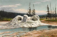 grotto geyser, yellowstone by grafton tyler brown