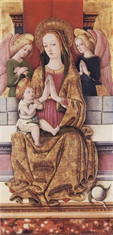 the madonna and child with two angels by pietro alamanno