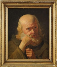 le philosophe en contemplation by jean-jacques-françois monanteuil