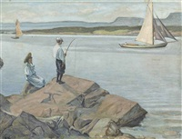 fishing on the lake edge by danish school (19)