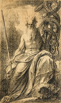 moses showing the brazen serpent by benjamin west