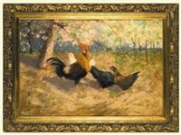 cock and chickens by stanislaw bohusz-siestrzencewicz