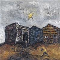 paisaje con ranchos by enrique policastro