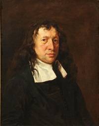 portrait of a gentleman (john milton?) by anglo-dutch school (17)