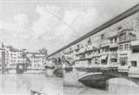 ponte vecchio, florence by ernesto bensa