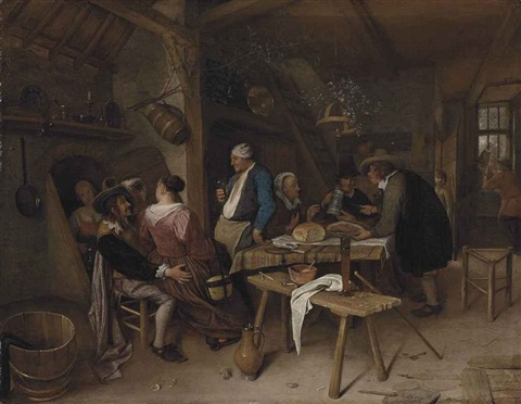 a tavern interior by jan steen