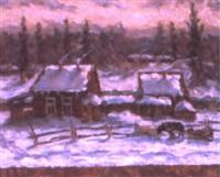première neige by nikolai maksimovich melnikov