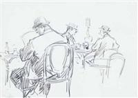 au café by jean constant raymond renefer