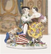 the indiscreet harlequin by johann joachim kändler