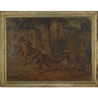 tug of war by george cruikshank