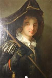 la marquise de moulins - rochefort, dit aussi portrait de femme en costume vénitien by jean-baptiste santerre