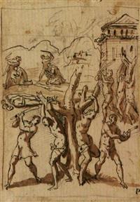 martirio di santi by avanzino nucci