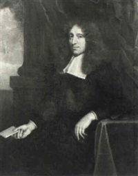 portrait of a gentleman wearing clerical robes by john greenhill