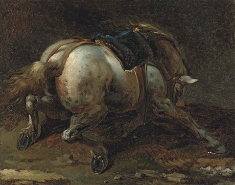 a grey charger by théodore géricault