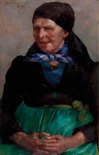 bäuerin in kroatischer tracht by konrad filip