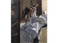 girl in a white dress by ken howard